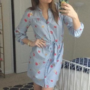 Old navy floral button up dress